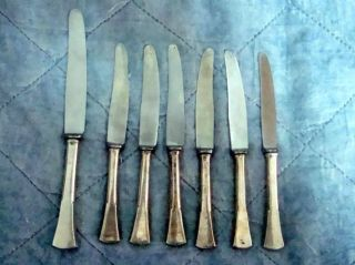 VINTAGE ROSTFREI DESSERT KNIVES WITH SILVER HANDLE 1 SOLINGEN KNIFE