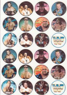 WWE WWF Wrestling Edible Cupcake Fairy Cake Rice Paper Toppers