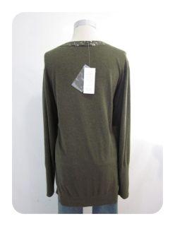 New Eileen Fisher Surplus Green Sequin Boyfriend Cardigan Sweater 3X $