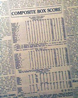 1932 New York Yankees World Series Babe Ruth Newspaper