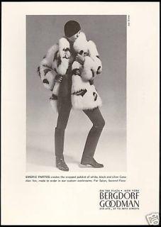 1971 Emeric Partos Fox Fur Coat Bergdorf Goodman Ad