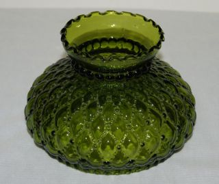 Replacement Green Quilted Glass Lamp Globe for Gone with The Wind Lamp