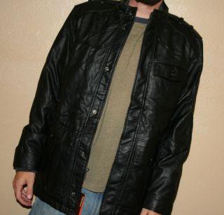 Perry Ellis Principles Mens Moto Black Small Medium Large Coat Jacket