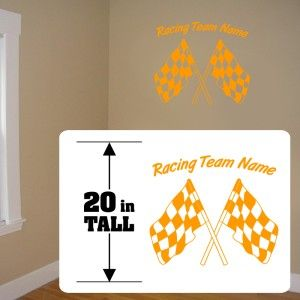 Racing Team sticker, Checkered Flag stickers, Checkered flag racing