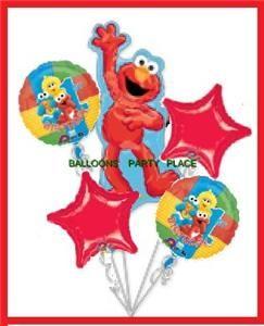 Elmo Sesame Street First Birthday Balloons 1st Supplies