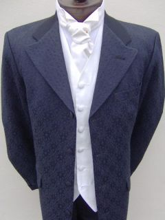 Mens Prince Edward Wedding Black Dress Jacket 40 s Suit
