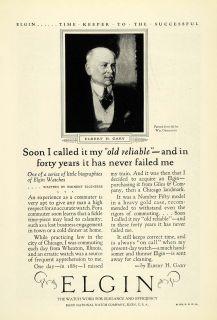 1925 Ad Elgin Watches Judge Elbert Henry Gary Jewelry National Watch