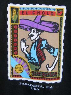 El Cholo 2XL Mexican Restaurant Pasadena CA Sombrero Man Black T Shirt