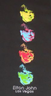 Elton John Red Piano Concert Las Vegas T Shirt Pop Retro Cool RARE L