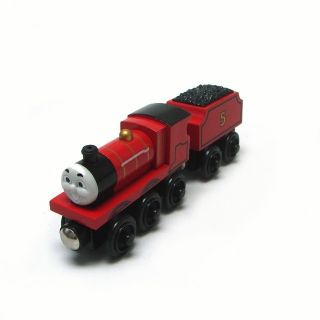 New James The Red Engine Number 5 Coal Thomas Tank Engine Wooden Train