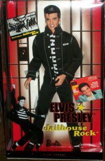 Elvis Presley Jailhouse Rock Barbie Ken Doll Black Jeans Jacket Great