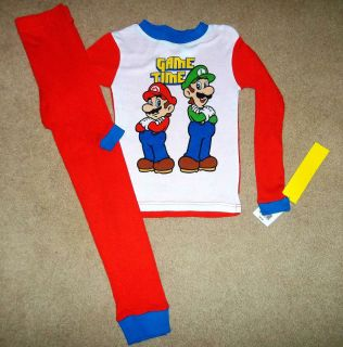 NEW Nintendo SUPER MARIO BROS Boys PAJAMAS 2pc SET Fall Winter PJs