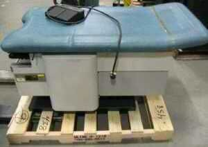 Lot of 3 Enochs Hi Low Power Exam Table Chair Bed Hydraulic Medical