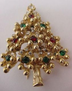 Eisenberg Vintage Unmarked Book Piece Christmas Tree Brooch w