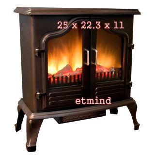 Harrison Electric Stove Heater Fireplace 400 Sq ft Room Vent Free