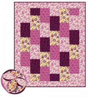 Easy Baby Quilt Kit Brick Quilt Clutch Ball Pink Purple Quilt Pattern