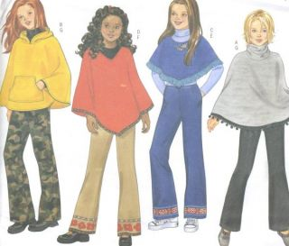 Knit Poncho Boot Leg Pants Sewing Pattern Hood Contour Waist Easy 6733