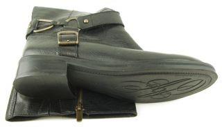 Enzo Angiolini Saul Black Womens Designer Riding Knee High Boots 10