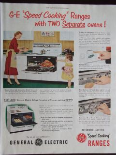 1951 General Electric Speed Cooking Ranges 2 Separate Ovens