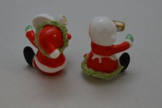 Vintage Holiday Christmas Figurines Mr. and Mrs. Claus Santa and his