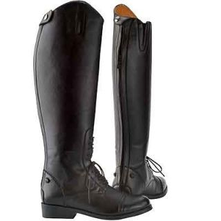 Horse Riding Boots Saxon Equileather Field Boot English Zip Back