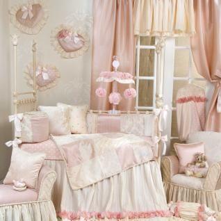 Elegant Designer Pink Floral Patchwork Baby Girl Nursery 4pc Crib