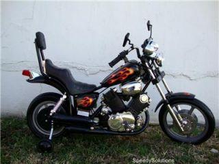 Kids Electric Battery Power Ride on Black Motorcycle Harley 15 Wheels