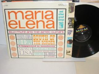 MARIA ELENA With Billy Mure & The The Aztec Guitars LP