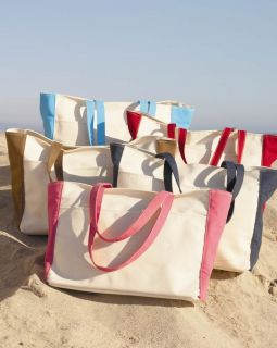 New 100 Cotton Canvas Boat Tote Beach Bag Swim Picnic 5 Colors