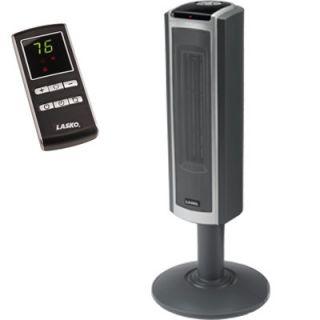 Lasko 30 Space Saving Ceramic Pedestal Heater w/ Digital Remote