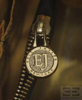 Eric Javits Tan & Black Woven Chain Strap Shoulder Bag