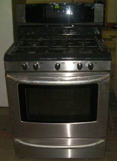 Kenmore Elite Stainless front 5 Burner Gas Stove Orig. Owner