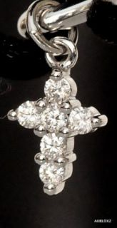 New $820 00 Roberto Coin 18K Gold Diamond Tiny Cross Bracelet Sale