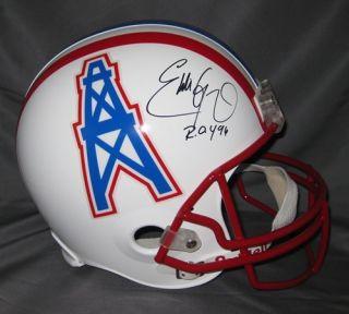 eddie george autographed oilers full size helmet