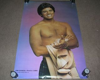 1978 Original Erik Estrada Ponch in Chips 32 Poster