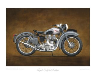 Motorcycle Limited Edition Print Royal Enfield Bullet