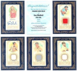ERIN ANDREWS 2012 TOPPS ALLEN & GINTER ON CARD MINI AUTOGRAPH AUTO SP