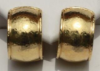 Elizabeth Locke 19k Yellow Gold Huggie Earrings 5 8in diameter 1 2 in