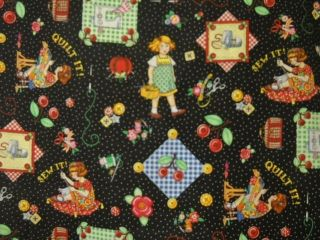 Over 1 Yard** Mary Engelbreit Fabric Sewing Quilting Hearts
