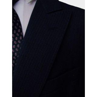 Ermenegildo Zegna Navy Herringbone Striped DB Blazer Suit Jacket 42 52