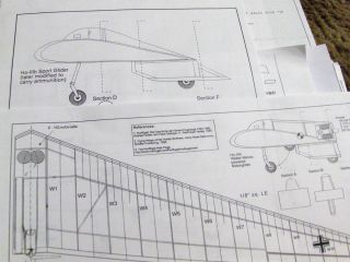Flying Wing RC Electric FF Balsa Model Airplane Plans