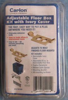 Carlon 1 Gang 21 CU in Electrical Floor Receptacle Kit Ivory