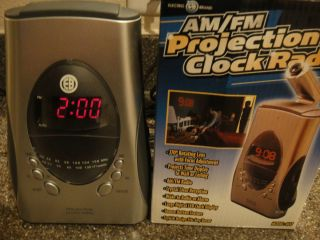 Electro Brand Am FM Projection Clock Radio Model 4637