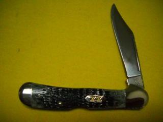 Case XX 2001 Select Pitch Black Jigged Bone Copperlock 2436 Knife NEW