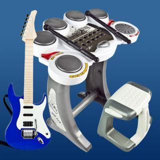 Electronic Toy Guitar Digital Drum Set Pad Music Kids Rock Band