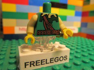 Lego ARCHER WOODSMAN ROBIN HOOD minifigure green TORSO   quantity x 1