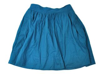 Edme Esyllte Anthropologie turquoise Blue Green Circle The Globe skirt