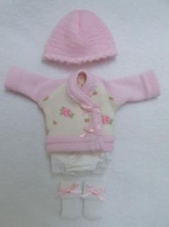 Ellery Kish OOAK Baby Doll 4 pc. Diaper Shirt Clothes Outfit 5 6 Pink