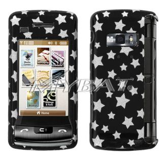 Hard Case Cover for LG enV Touch VX11000 Phone Silver Stars Snap On