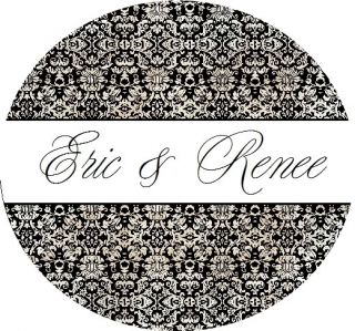 24 Personalized Damask Envelope Seals Labels Stickers